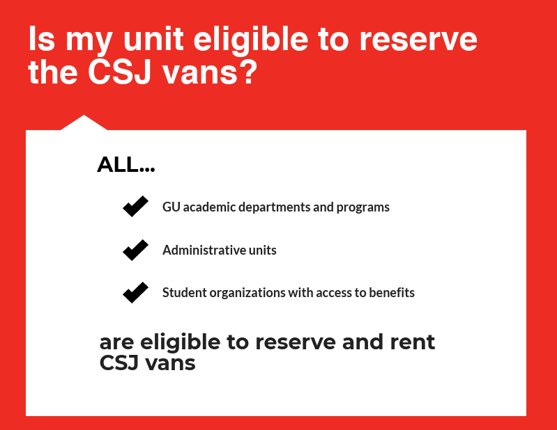 Second portion of CSJ Van Infographic, all text on infographic is written out below infographics in text on our website