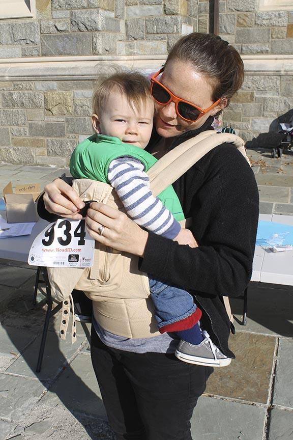 Alum Lauren Johannesson McCoy attends the Georgetown 5K Race Against Homelessness.