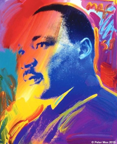 A colored drawing of Martin Luther King