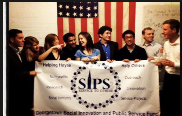 Students celebrate the establishment of the SIPS Fund